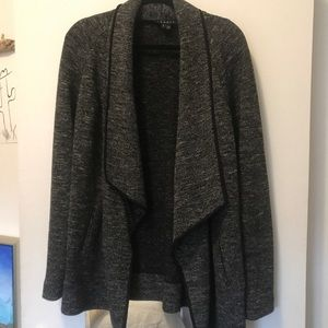 theory long sweater/jacket with pockets